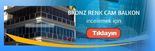 bronz renk cam balkon örnek uygulaması