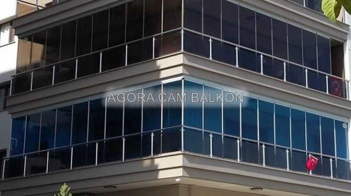 bronz renk cam balkon