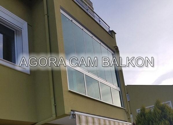 yeşil renk cam balkon