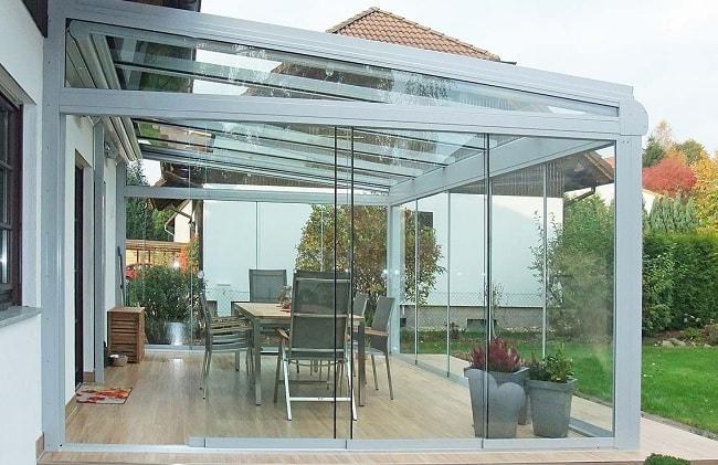 sürme cam balkonlu kış bahçesi